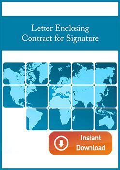 letter enclosing contract  signature international