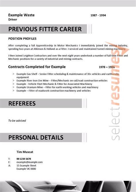 fitter turner design  select resumes