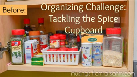 how to organize your kitchen spices organizing challenge tackling the spice cupboard living 8784
