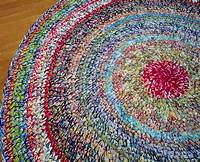 colorful area rugs 6' Custom Color Blast Area Rug/Crochet Round Rugs/Round