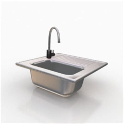 kitchen sink model kitchen ware 3d models sink n150708 3d model gsm 2790
