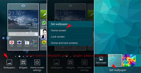how to change home screen on android inside galaxy samsung galaxy s5 how to change wallpaper