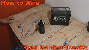 How To Wire Your Old Garden Tractor W   Battery Ignition