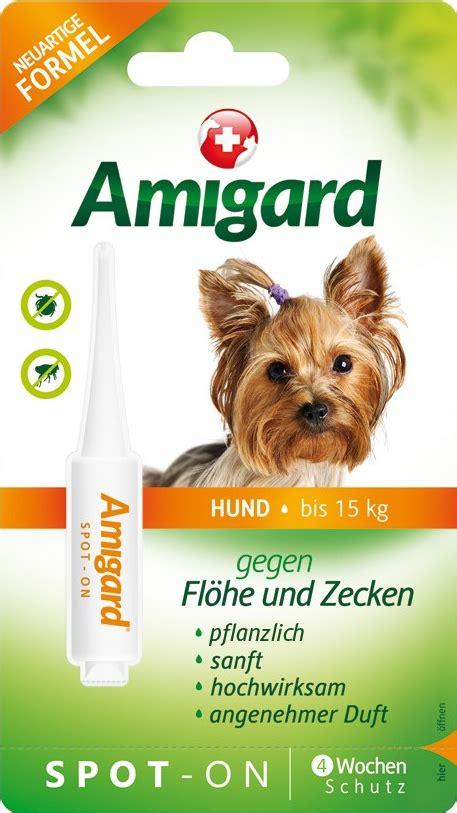 amigard spot  hund bis zu  kg  ml einzelpackung