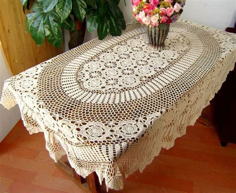 tablecloth for oval table online buy wholesale crochet oval tablecloth from china