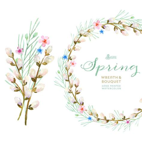 blossoming wreath clipart clipground