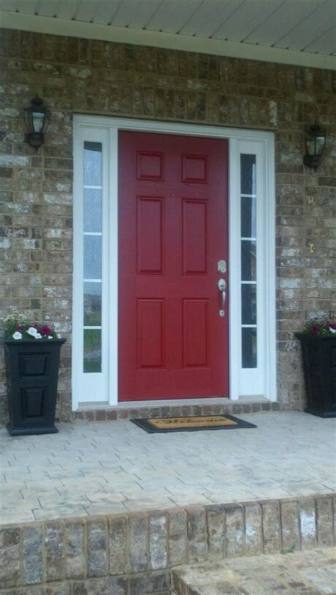 front doorlowes front door red  decorating