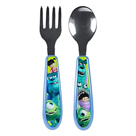 Disney Monsters Inc Starter Fork Spoon