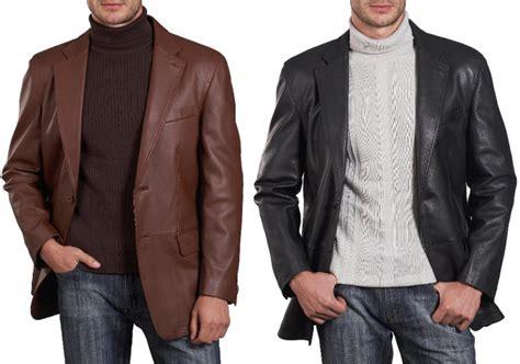 Soft Thin Leather Jacket Men