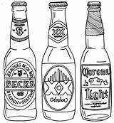 Beer Bottle Drawing Line Coloring Pages Drawings Bottles Alcohol Printable Drawn Google Getdrawings Svg Printables Projects Expressions Carafe Carving Mosaic sketch template