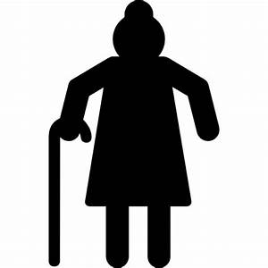 Grandmother silhouette Icons | Free Download