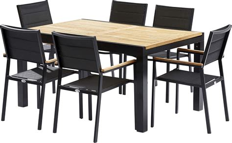 ensemble table et 6 chaises emejing table et chaise de jardin noir ideas awesome