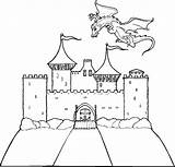 Castle Coloring Bouncy Printable Dragon Drawing Miscellaneous Getdrawings Dragons Princess Cartoon Ecosia sketch template