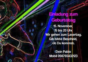 Gib Oder Geb : einladungskarte lasertag ~ Buech-reservation.com Haus und Dekorationen