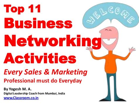 Best Courses For Marketing Professionals by Top 11 Business Networking Activities Every Sales And