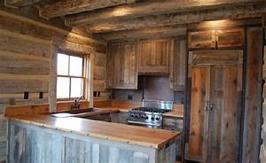 old styled reclaimed wood kitchen cabinet for rustic house With 4 materials rustic kitchen cabinets