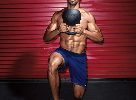 kettlebell workout core site lunge reverse