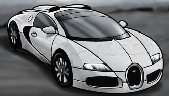 How to Draw a Bugatti Veyron Car