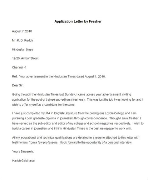 application letters download pdf format