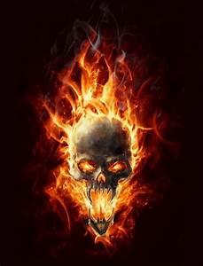 Fire demon skull | SKULLZ | Pinterest | Skulls, Fire and ...