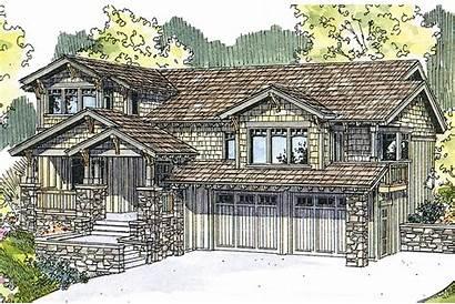 Craftsman Plan Plans Kelseyville Elevation Bungalow Garage