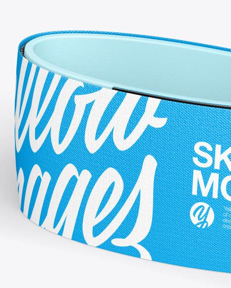 Very simple edit with smart layers. Ski Strap Mockup in Apparel Mockups on Yellow Images ...