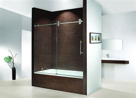 Brown Accent Wall Tiles For Modern Bathroom Ideas With