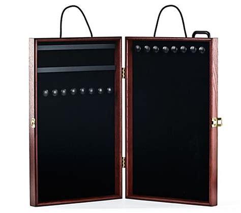 portable jewelry display case velvet interior
