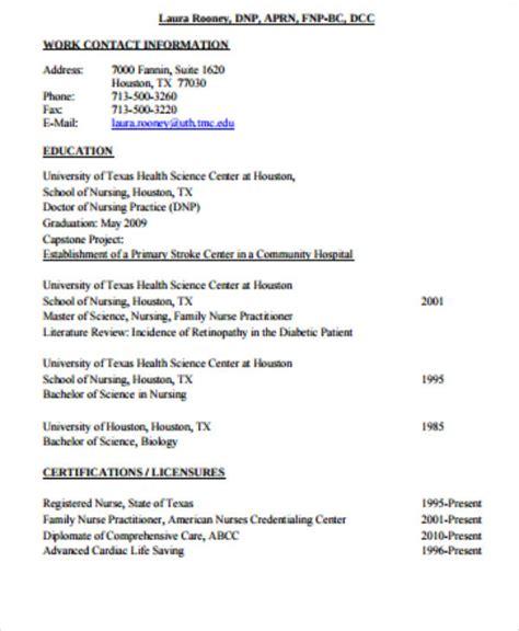 sample graduate nurse resume templates  ms word