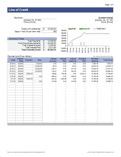credit tracker  excel