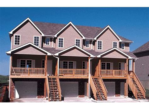 townhouse  garage single family townhouse plans