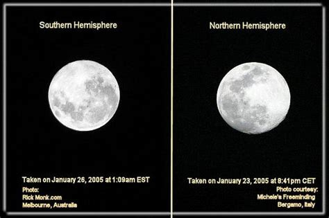 southern and northern hemisphere moons amazing to see