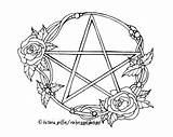 Pagan Coloring Wiccan Wicca Pages Pentacle Printable Tattoo Adult Drawing Pentagram Witch Colouring Etsy Books Drawings Adults Witchcraft Zoom Template sketch template