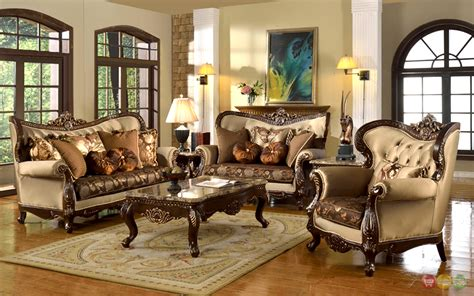 antique style traditional wing  formal living room
