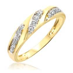 mens 10k gold wedding bands 1 2 carat t w 39 and 39 s wedding rings 10k yellow gold my trio rings wb168y10k