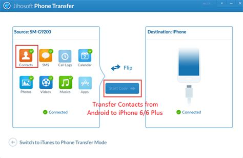 contact transfer from iphone to android transfer data samsung iphone 2 ways to transfer contacts