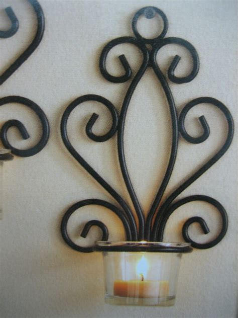 tealight wall sconce tealight wall sconces scroll votive candle holders wall