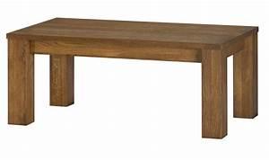 Table Basse Rectangulaire Bois : table basse en bois massif loft mobilier contemporain en chene massif ~ Teatrodelosmanantiales.com Idées de Décoration