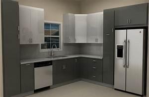 High-gloss ABSTRAKT doors for an IKEA kitchen remodel