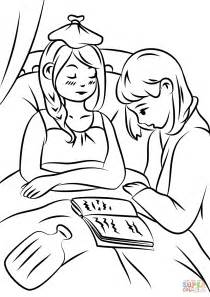 helping  sick coloring page  printable coloring pages