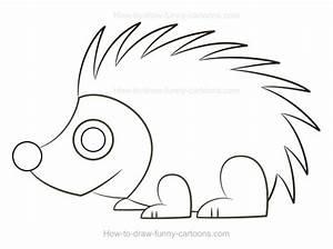 How to Draw A Cartoon Porcupine