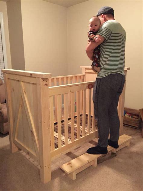 home  pine wood crib  stain diy crib diy crib