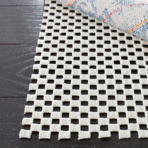 non slip rug pad safavieh grid white 9 ft x 12 ft non slip rug pad pad111