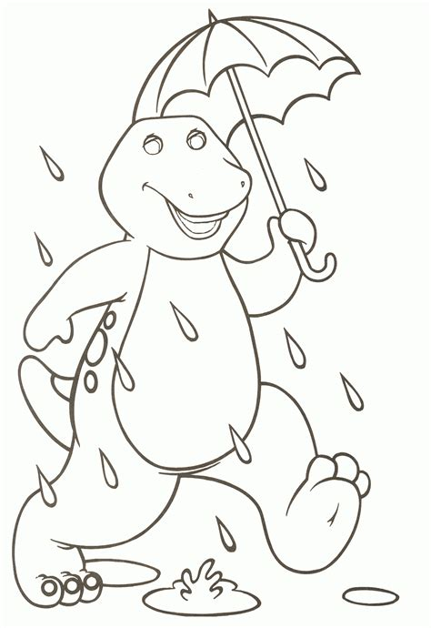 barney coloring pages    print