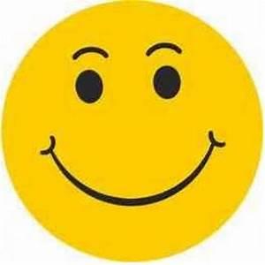 Happy Face ( w/ eyebrows ) Stickers. ez188 ...  Happy