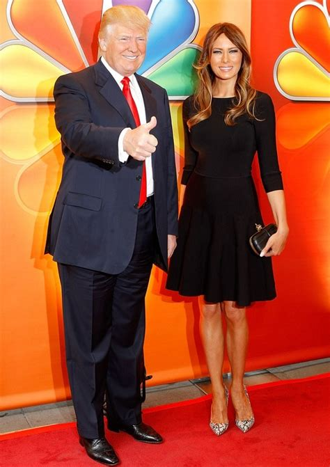 trump melania donald tall cm celebrities celebrity heights related