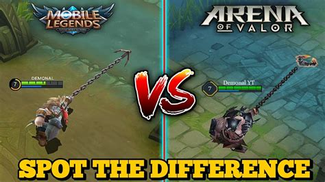 Mobile Legends Vs. Arena Of Valor