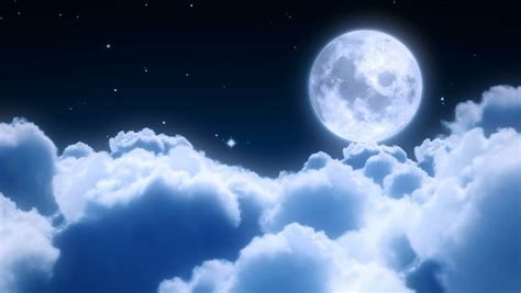 Flight Over The Night Sky Stock Footage Video 100