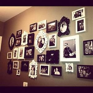 Wall decor photo collage for the home