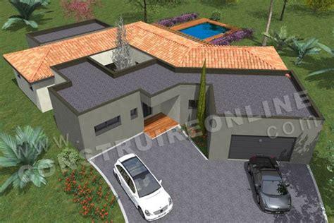 plan de maison moderne atrium